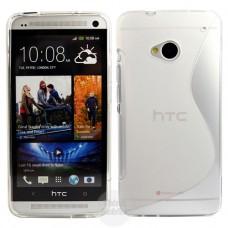 Прозрачный силиконовый чехол для HTC One (M7)