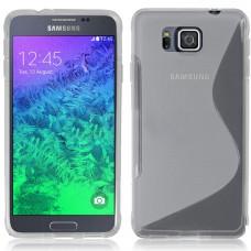 Прозрачный силиконовый чехол для Samsung Galaxy Alpha