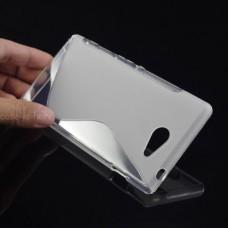 Прозрачный силиконовый чехол для Sony Xperia M2