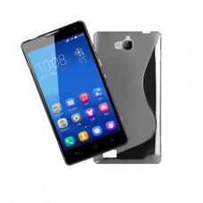 Прозрачный силиконовый чехол для Huawei Honor 3C