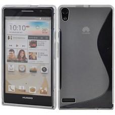 Прозрачный силиконовый чехол для Huawei Ascend P6