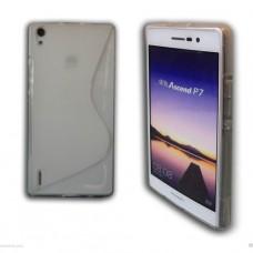 Прозрачный силиконовый чехол для Huawei Ascend p7
