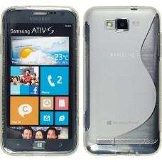 Прозрачный силиконовый чехол для Samsung Ativ S