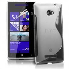 Прозрачный силиконовый чехол для HTC 8X