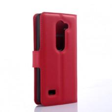 Красный чехол книжка для LG Leon