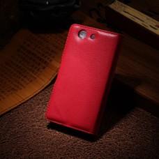 Красный чехол книжка для Sony Xperia Z3 compact