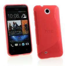 Красный силиконовый чехол для HTC Desire 300