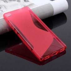 Красный силиконовый чехол для Huawei P8 Lite