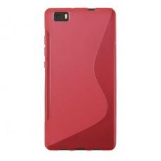 Красный силиконовый чехол для Huawei P8