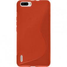 Красный силиконовый чехол для Huawei Honor 6 Plus