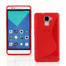 Красный силиконовый чехол для Huawei Honor 7
