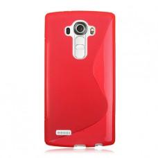 Красный силиконовый чехол для LG G4