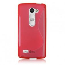Красный силиконовый чехол для LG Leon