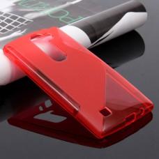 Красный силиконовый чехол для LG Magna