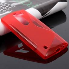 Красный силиконовый чехол для LG Spirit