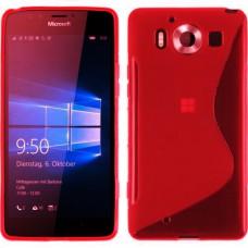 Красный силиконовый чехол для Microsoft Nokia Lumia 950
