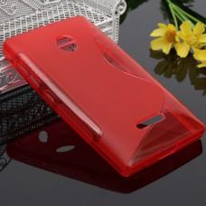 Красный силиконовый чехол для Nokia Lumia 435/532