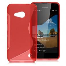 Красный силиконовый чехол для Nokia Lumia 550