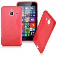 Красный силиконовый чехол для Nokia Lumia 640XL