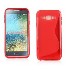 Красный силиконовый чехол для Samsung Galaxy E5