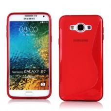 Красный силиконовый чехол для Samsung Galaxy E7