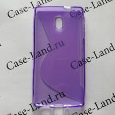 Фиолетовый силиконовый чехол для Nokia 3