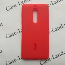 Красный силиконовый чехол