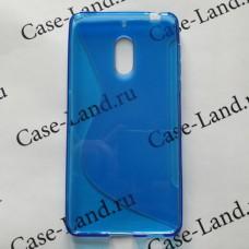 Синий силиконовый чехол для Nokia 6