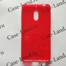 Красный силиконовый чехол для Nokia 6