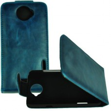 Синий чехол книжка для HTC One X/One X+