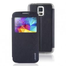 Кожаный чехол - книжка (USAMS) для Samsung Galaxy S5
