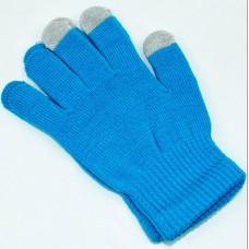 Перчатки для сенсорных экранов (голубые)