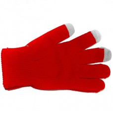 Перчатки для сенсорных экранов (красные)