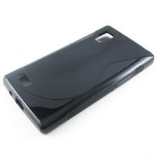 Черный силиконовый чехол для LG Optimus L9