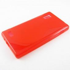 Красный силиконовый чехол для LG Optimus L9