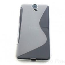 Прозрачный силиконовый чехол для HTC E9 Plus