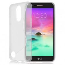 Прозрачный силиконовый чехол для LG K10 2017