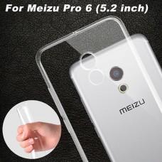 Прозрачный силиконовый чехол для Meizu Pro 6