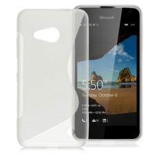 Прозрачный силиконовый чехол для Nokia Lumia 550