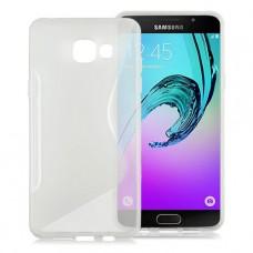 Прозрачный силиконовый чехол для Samsung A7 2016