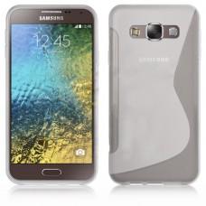 Прозрачный силиконовый чехол для Samsung Galaxy E7
