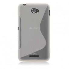 Прозрачный силиконовый чехол для Sony Xperia E4