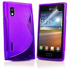 Фиолетовый силиконовый чехол для LG Optimus L5