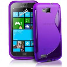 Фиолетовый силиконовый чехол для Samsung Ativ S