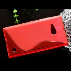 Красный силиконовый чехол для Nokia Lumia 730/735