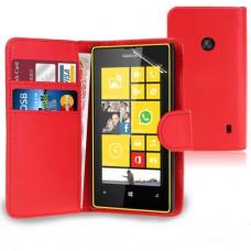 Красный чехол книжка для Nokia Lumia 520/525