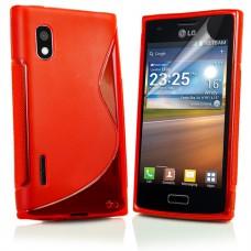 Красный силиконовый чехол для LG Optimus L5