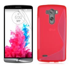 Красный силиконовый чехол для LG G3 s