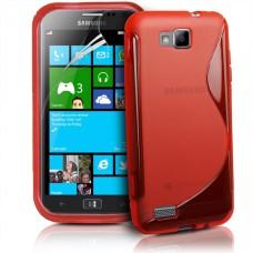 Красный силиконовый чехол для Samsung Ativ S