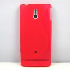 Красный силиконовый чехол для Sony Xperia p lt22i